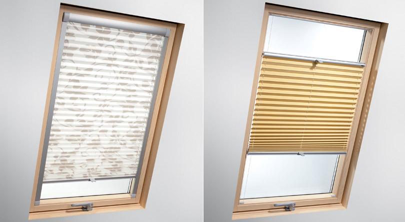 Żaluzje na okna dachowe zapewniają płynną regulacje stopnia nasłonecznienia.